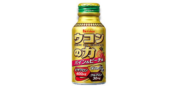 ウコンの力パイン&ピーチ味商品イメージ